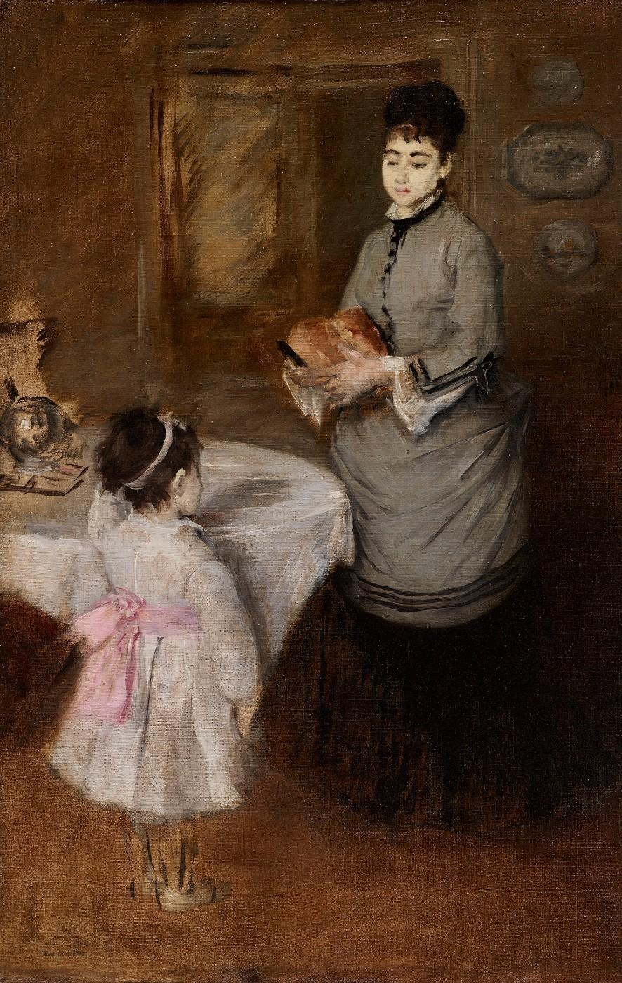 Eva Gonzalès, Afternoon Tea, c. 1874