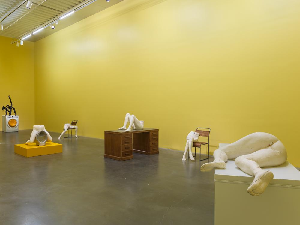 Sarah Lucas: Au Naturel, 2018. Exhibition view: New Museum, New York.