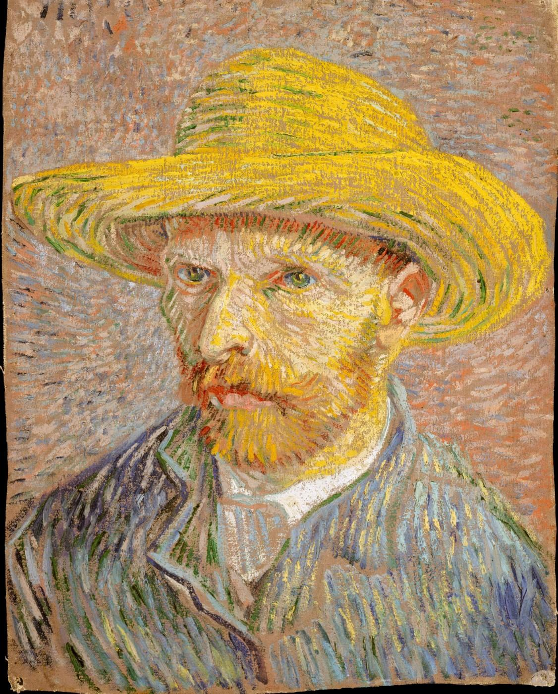 Vincent van Gogh, Self-Portrait with a Straw Hat