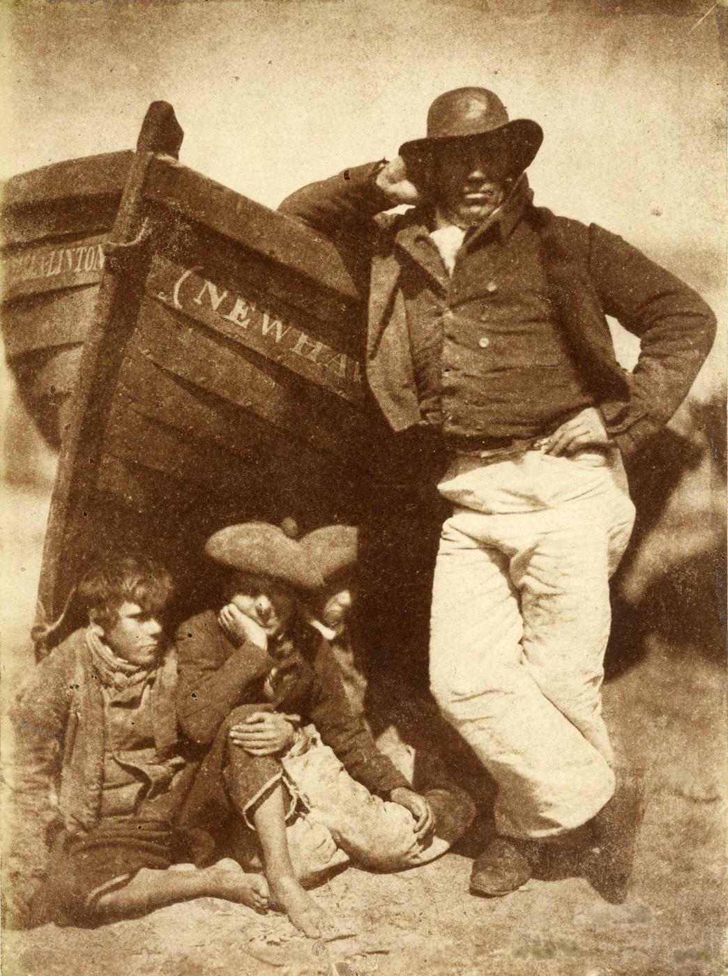 D.O. Hill and Robert Adamson, Sandy Linton, his boat and his bairns, New Haven, 1845