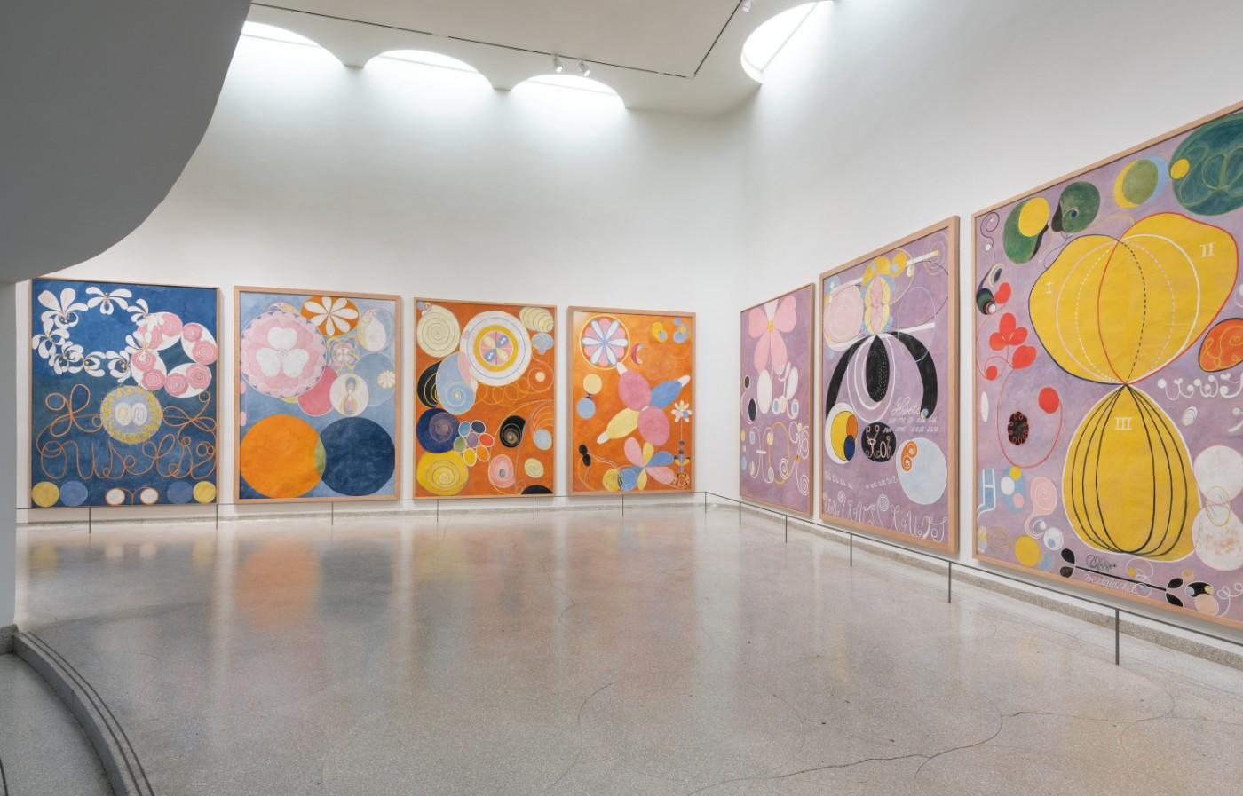 Installation view: Hilma af Klint: Paintings for the Future, Solomon R. Guggenheim Museum, New York, October 12, 2018–April 23, 2019