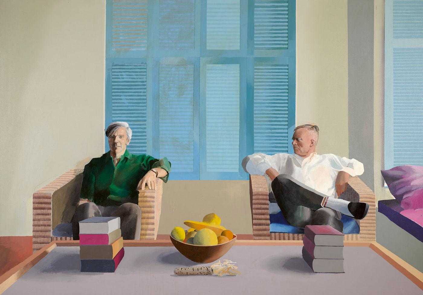 Christopher Isherwood and Don Bachardy by David Hockney, 1968.