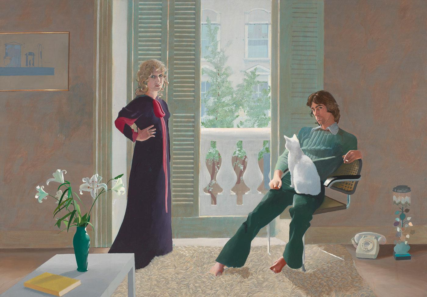 Mr and Mrs Clark and Percy by David Hockney, 1970-1971.