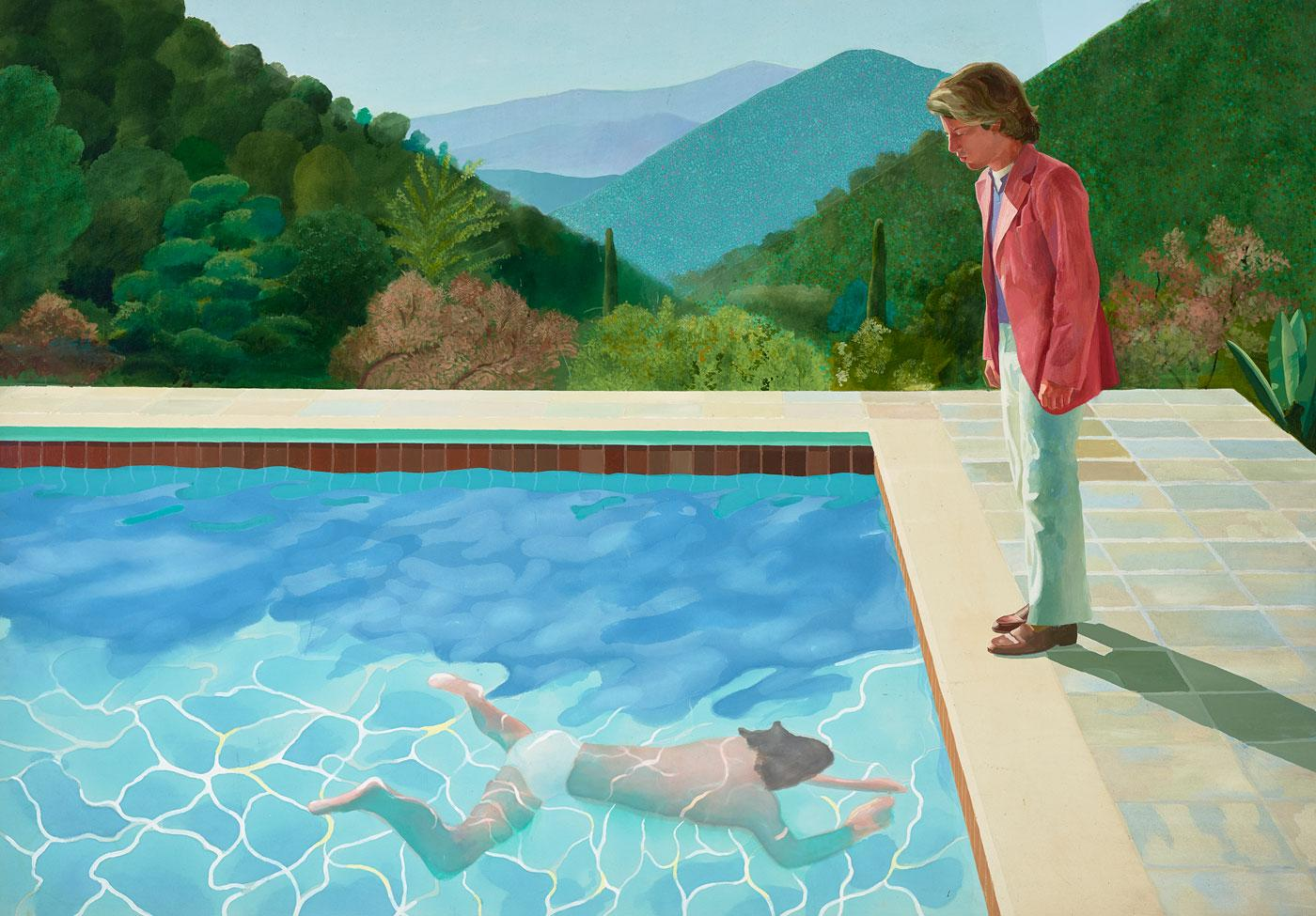 Portrait of an Artist (Pool with Two Figures) by David Hockney, 1972.