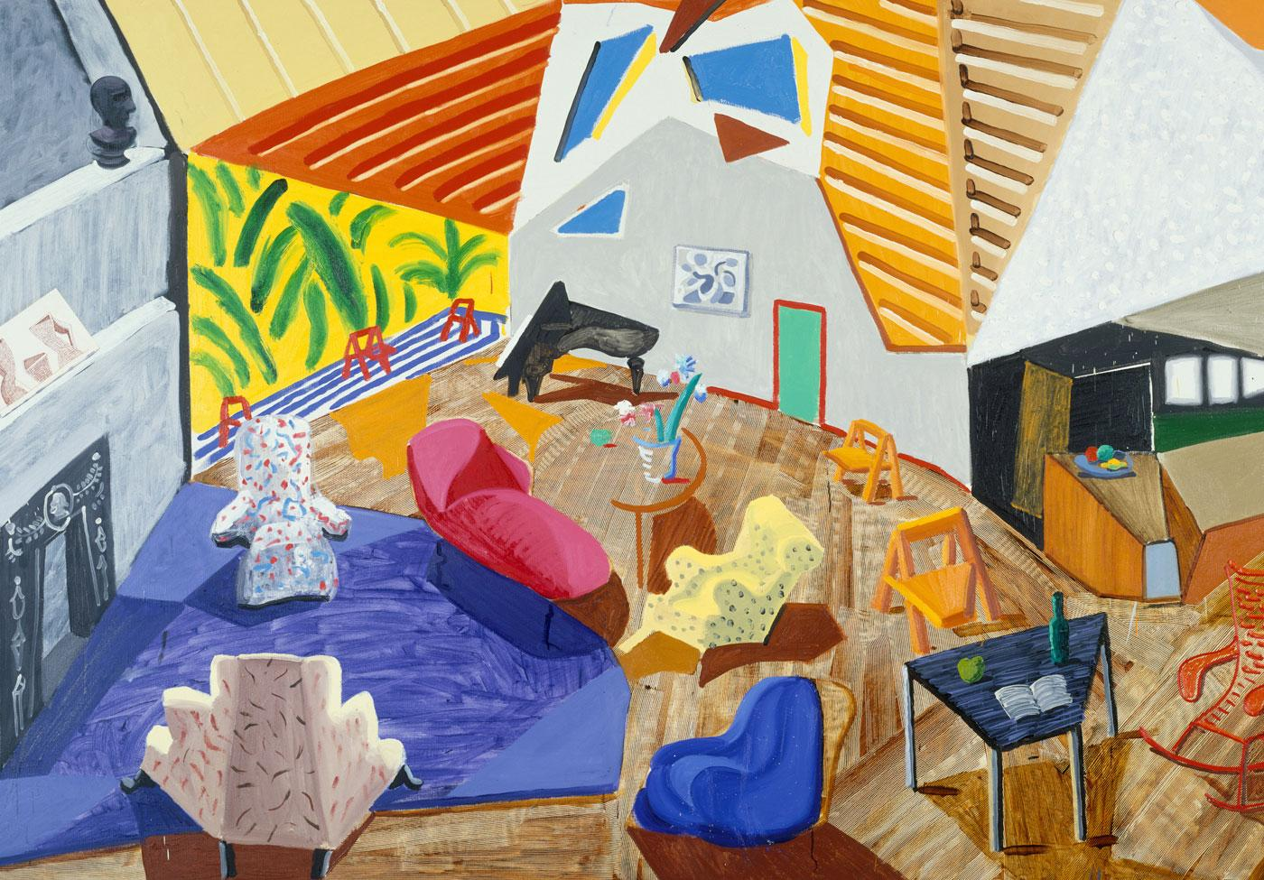 Large Interior, Los Angeles by David Hockney, 1988.