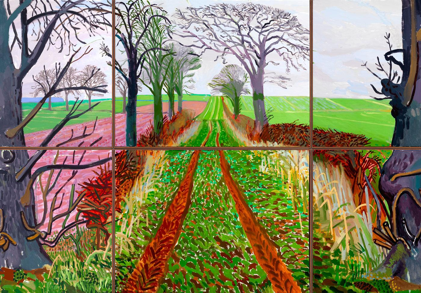A Closer Winter Tunnel, February - March by David Hockney, 2006.