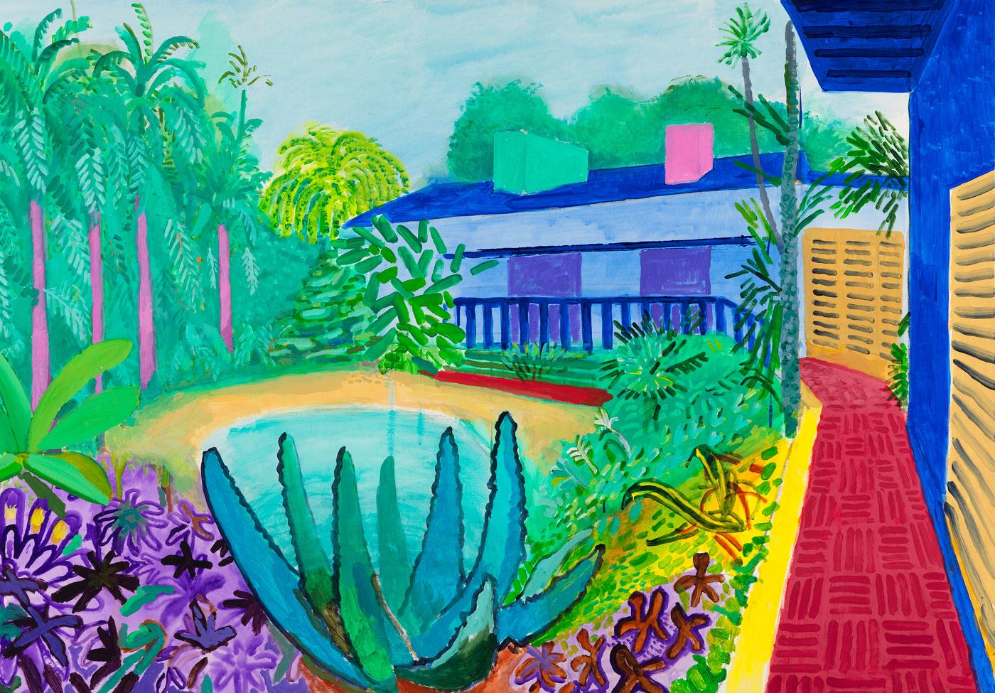 Garden by David Hockney, 2015.