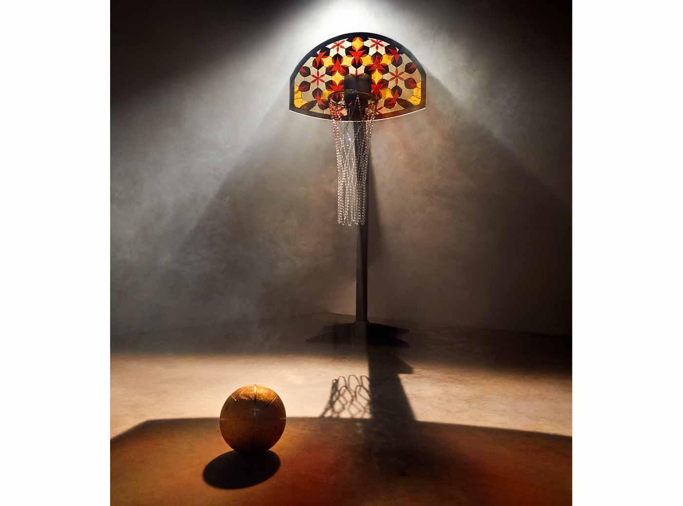 stained glass basketball hoop