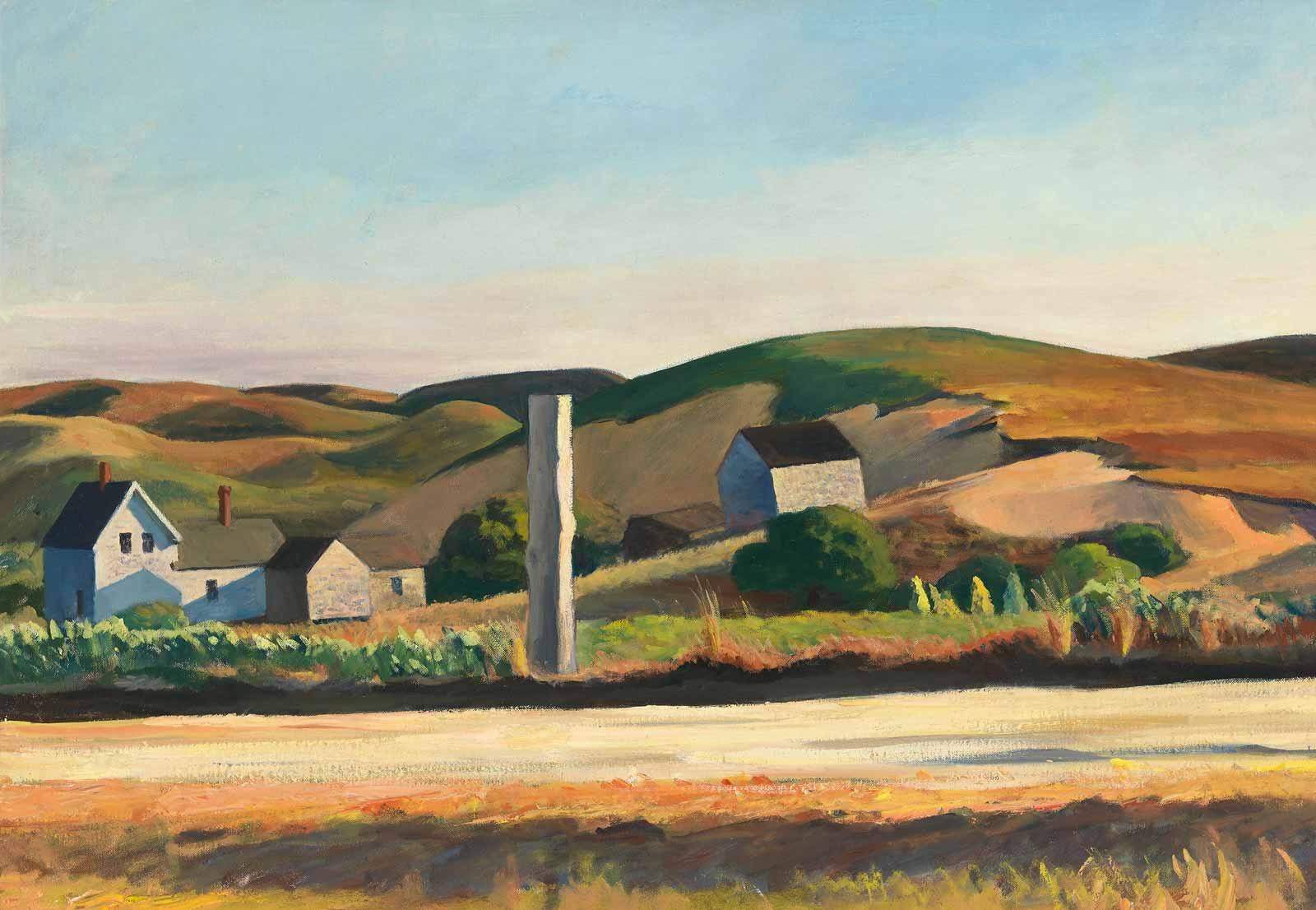 Edward Hopper, Road and Houses, South Truro, 1930–1933.