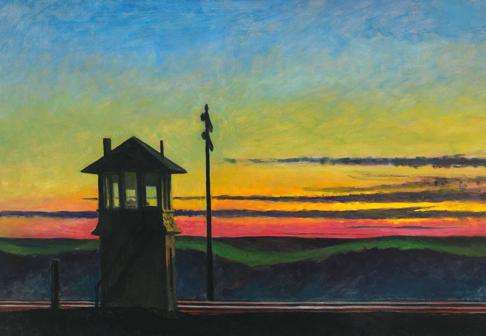 Edward Hopper, Railroad Sunset, 1929.