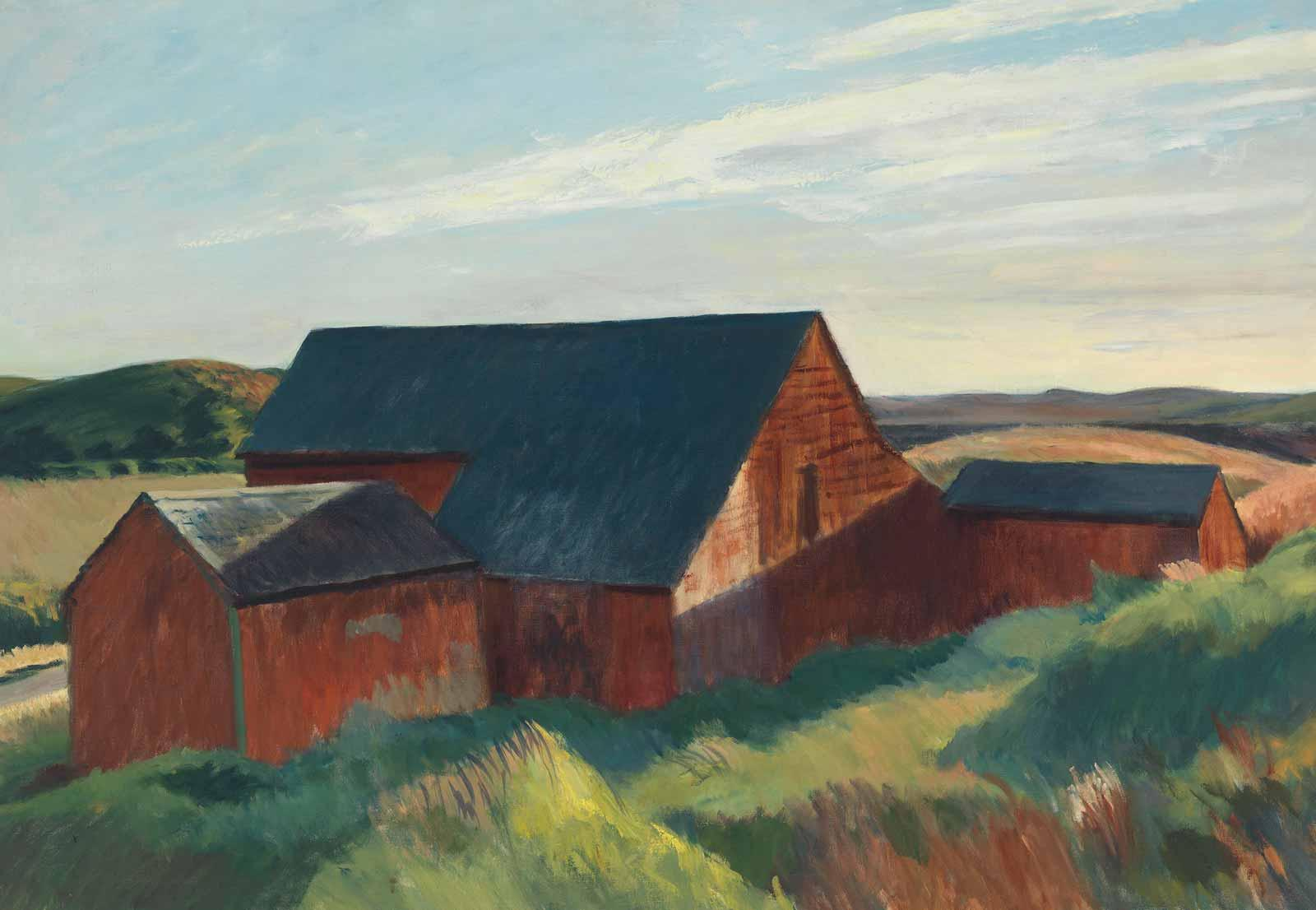 Edward Hopper, Cobb's Barns, South Truro, 1930–1933.