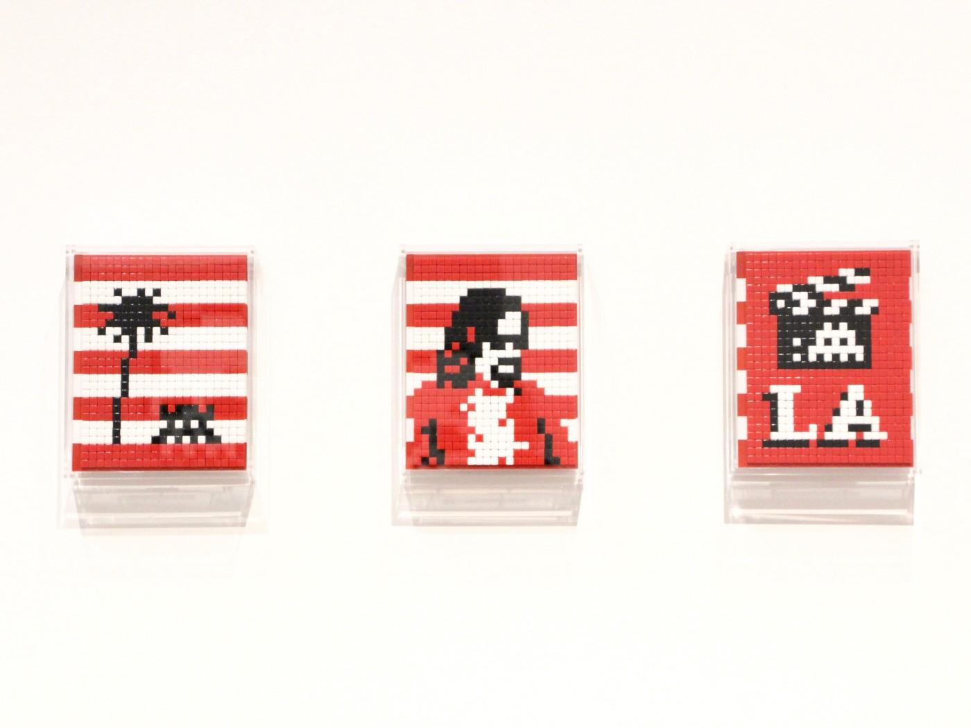Installation view, Invader: Into the White Cube