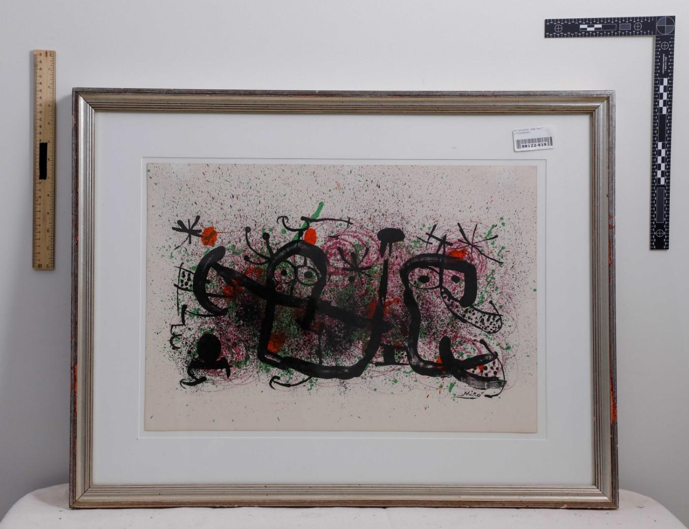 A Juan Miró work recovered by police