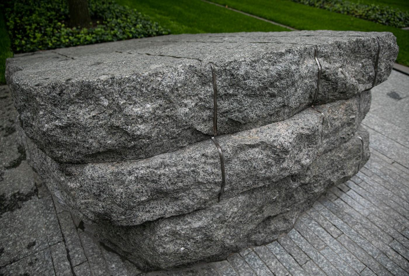 Stone monoliths at the 9/11 Memorial Glade