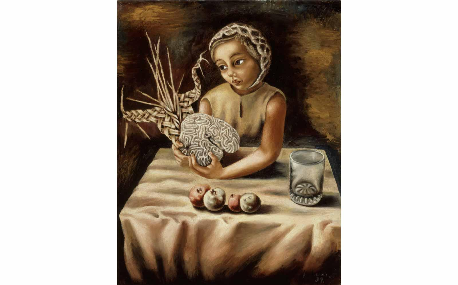 Juan Soriano, Girl with Still Life, 1939.