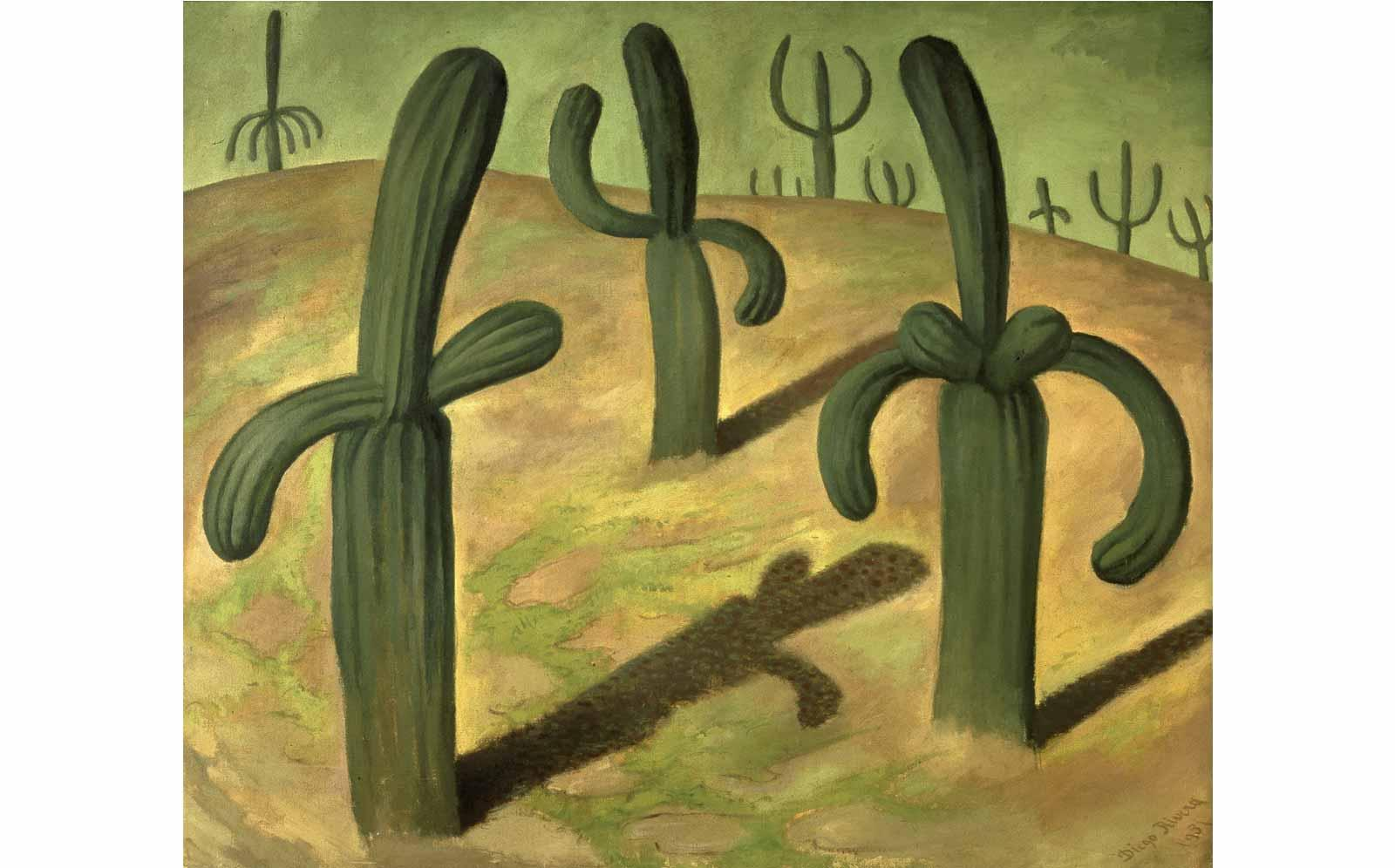 Diego Rivera, Landscape with Cacti, 1931.