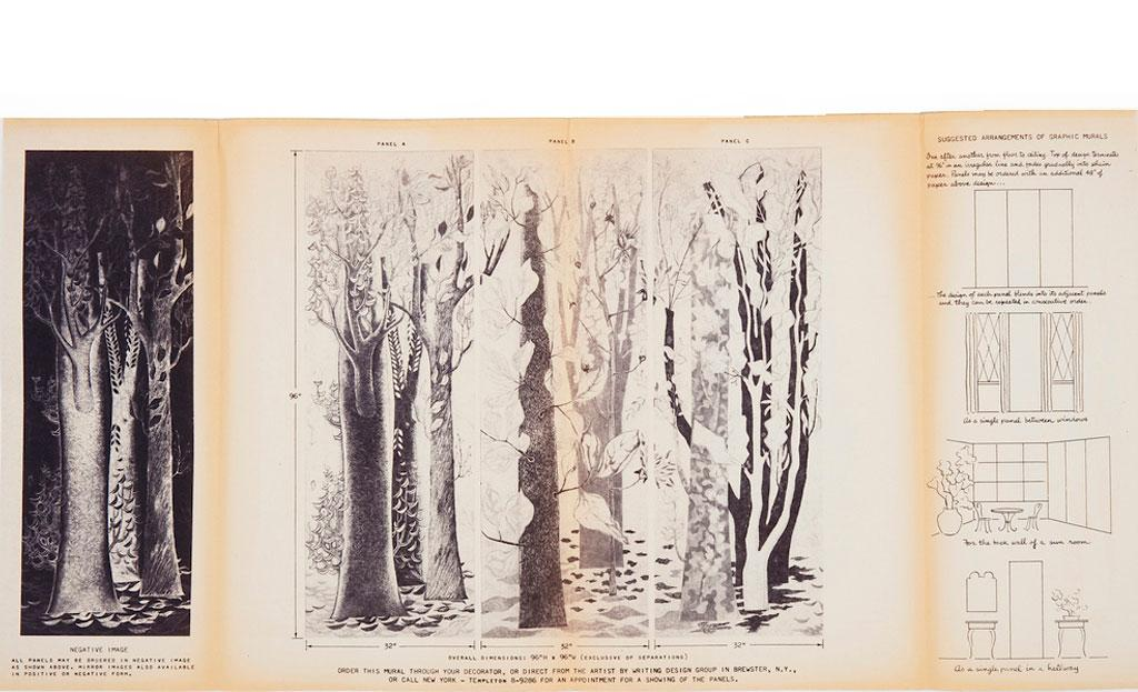 Folder with trees, designed by Ilonka Karasz
