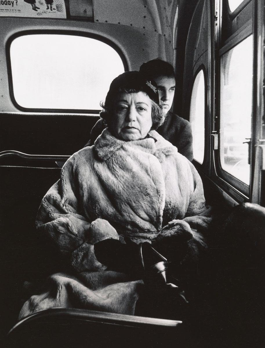 Lady on a bus, N.Y.C. 1957