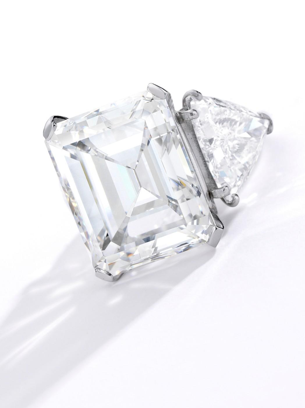 Barbara Sinatra's Diamond Engagement Ring