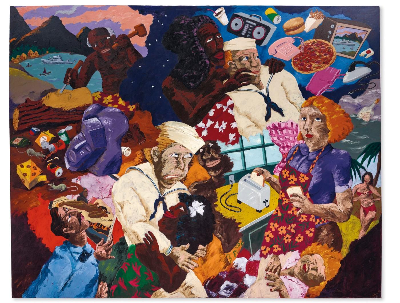 Robert Colescott, Cultural Exchange, 1987