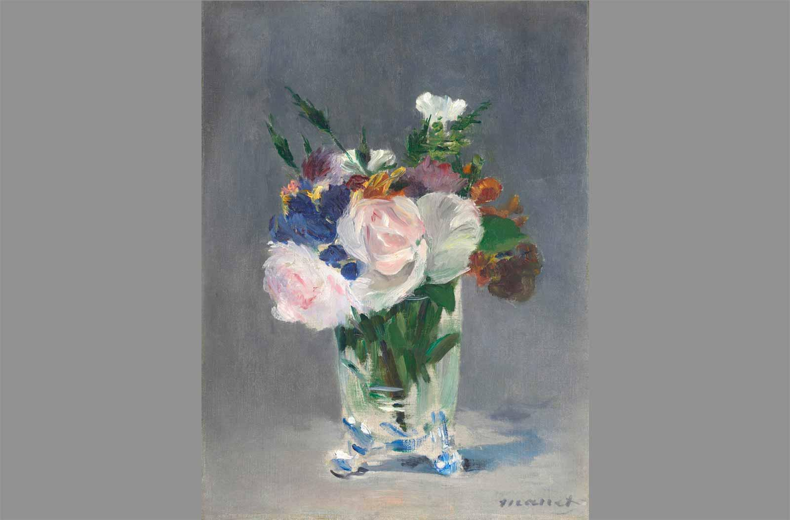 Édouard Manet. Flowers in a Crystal Vase, about 1882.