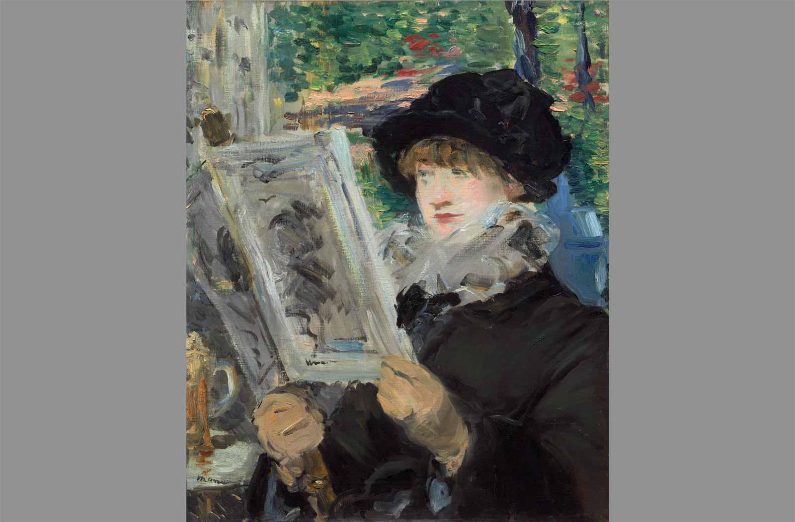 Édouard Manet. Woman Reading, 1880 or 81.