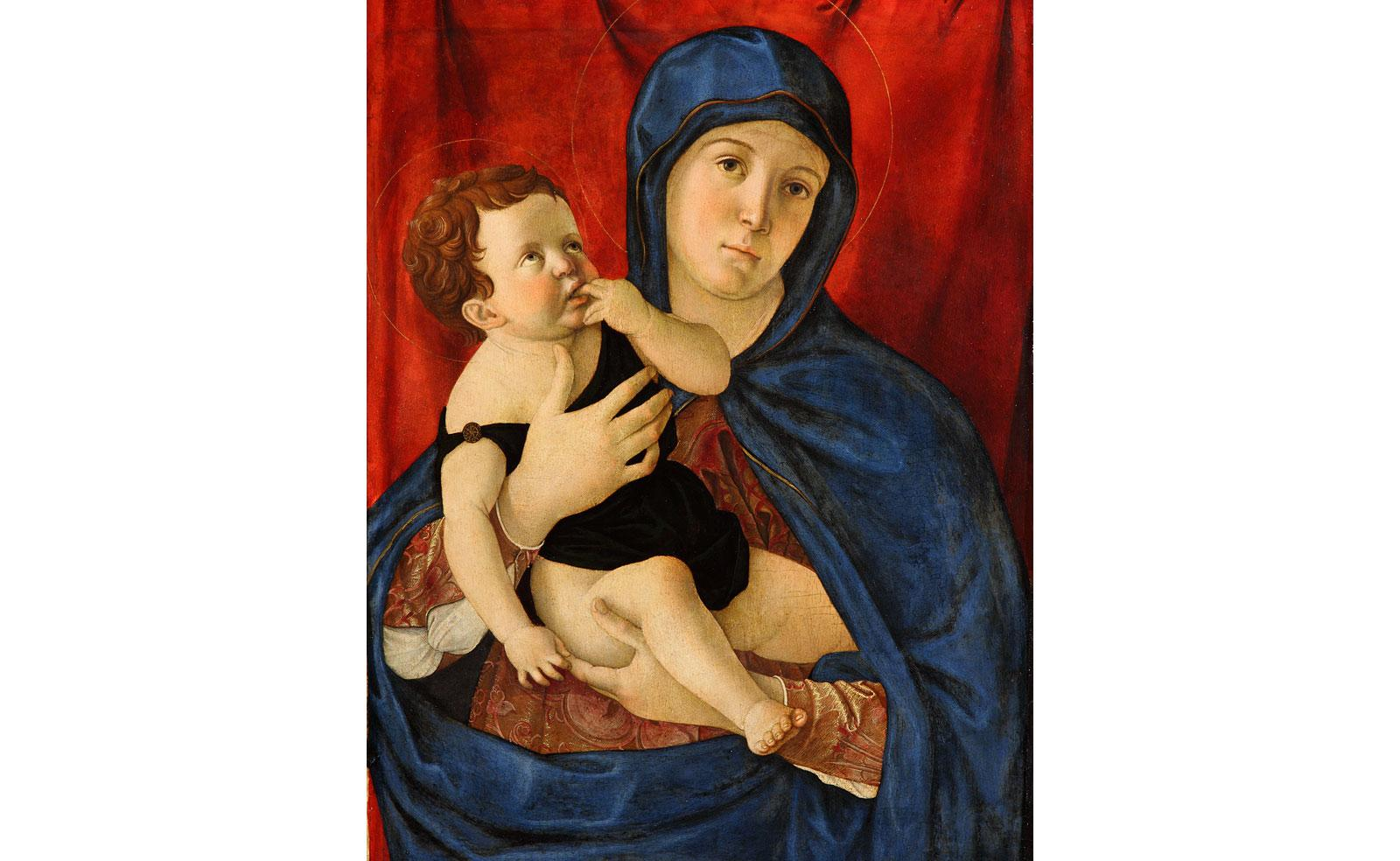 Madonna with child by Giovanni Bellini.