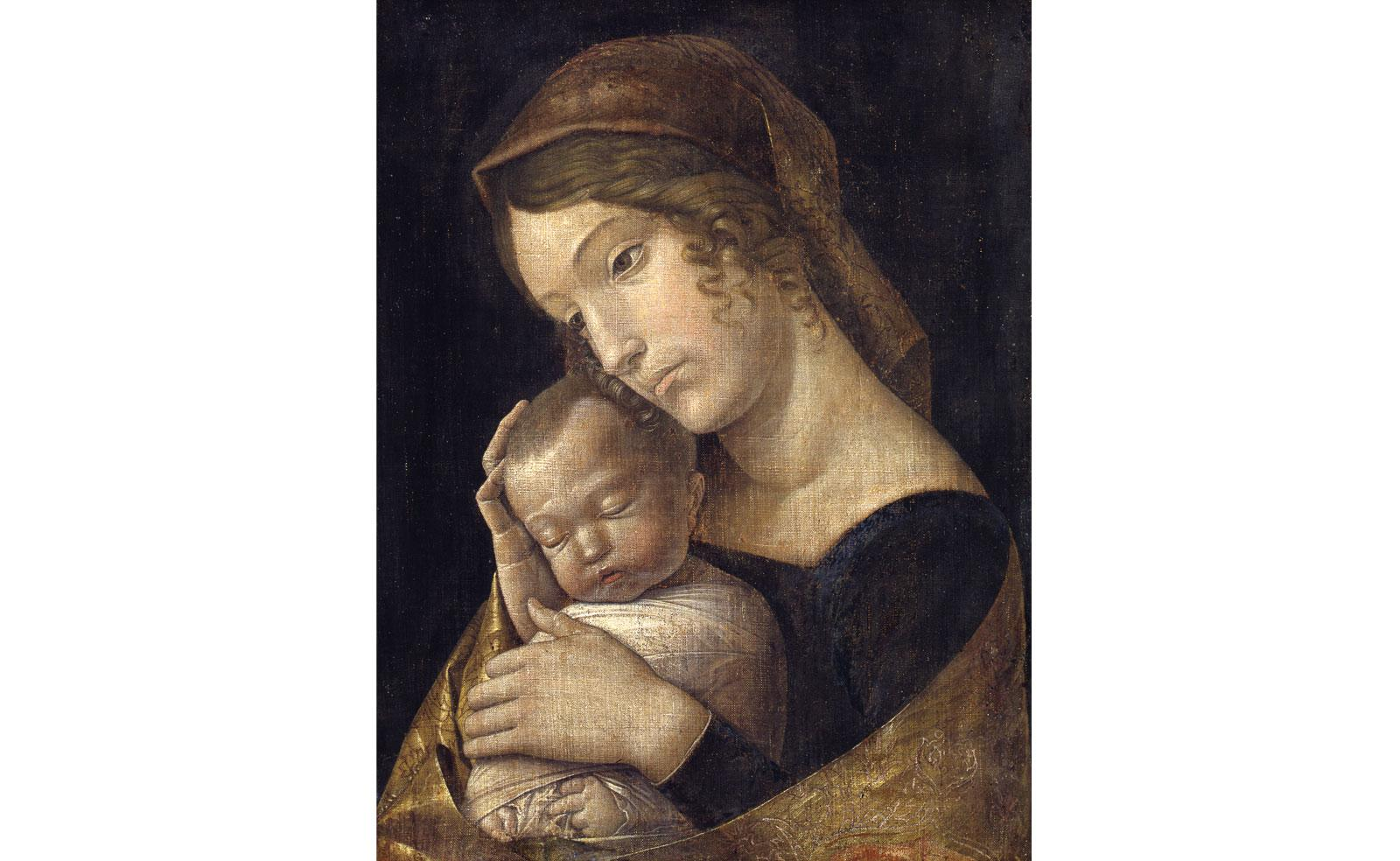 Madonna with Sleeping Child by Andrea Mantegna.