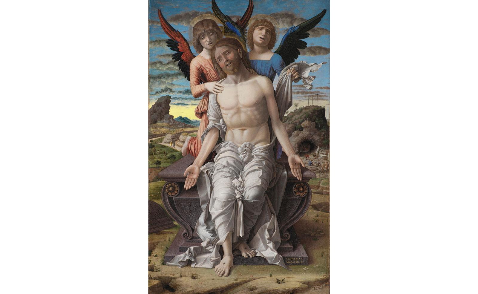 The Man of Sorrows by Andrea Mantegna.