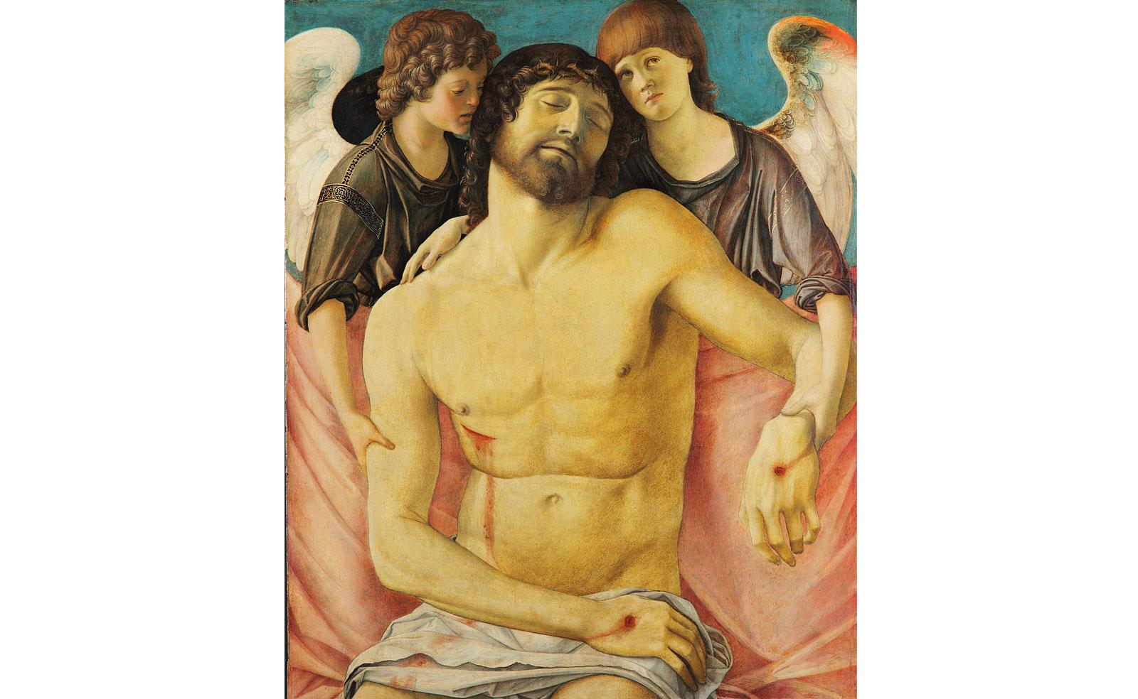 Dead Christ supported by angels by Giovanni Bellini.