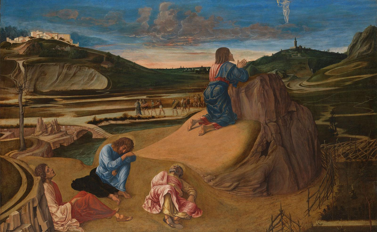 The Agony in the Garden by Giovanni Bellini.