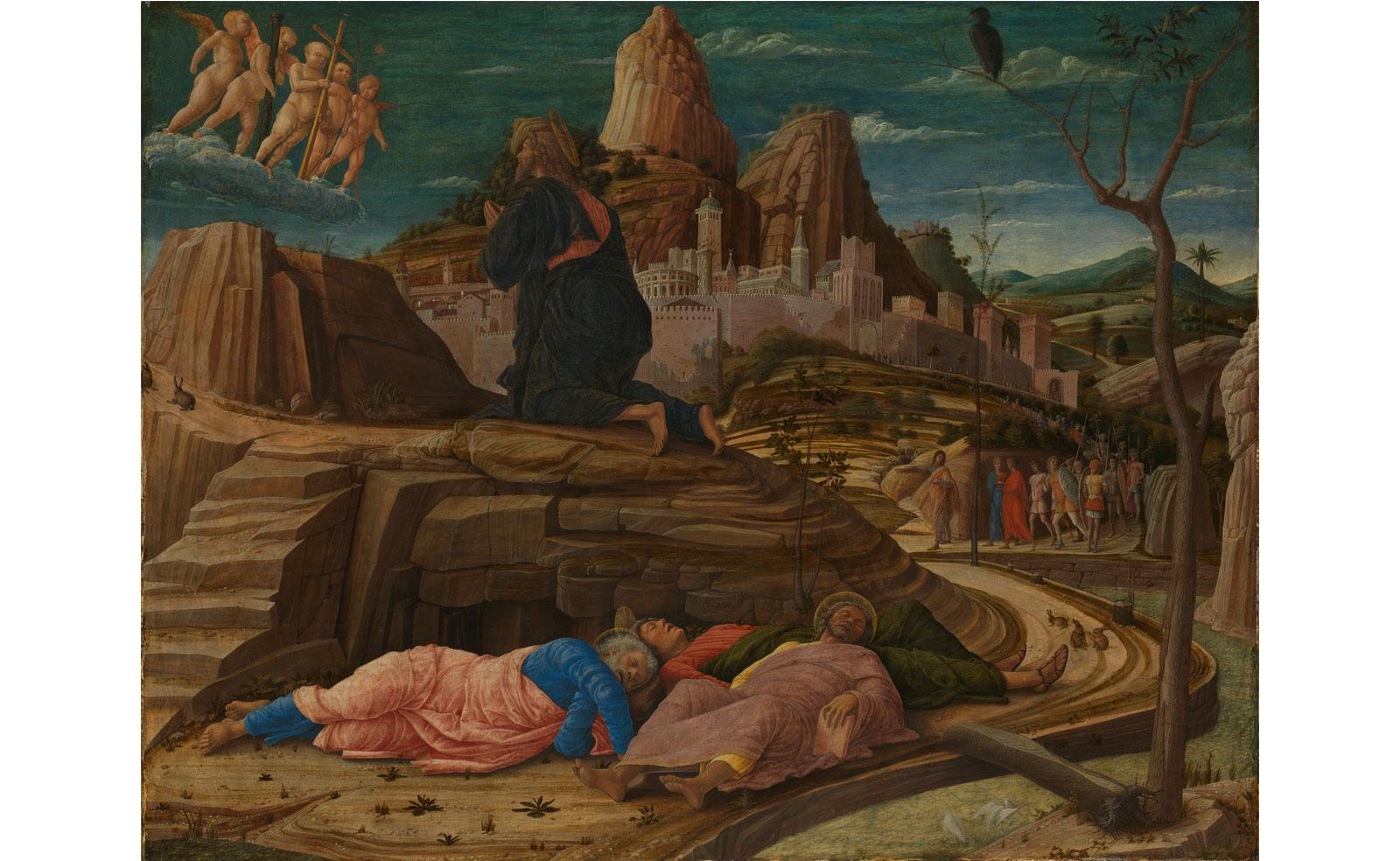 The Agony in the Garden by Andrea Mantegna.