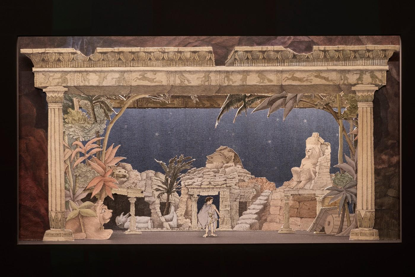 Installation view, Drawing the Curtain: Maurice Sendak's Designs for Opera and Ballet
