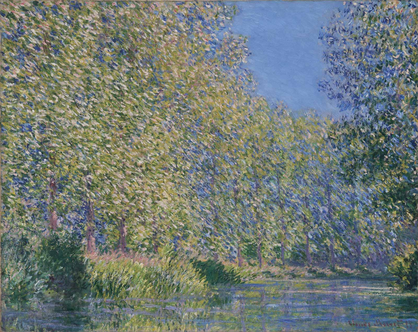 Bend in the Epte River near Giverny, 1888, by Claude Monet