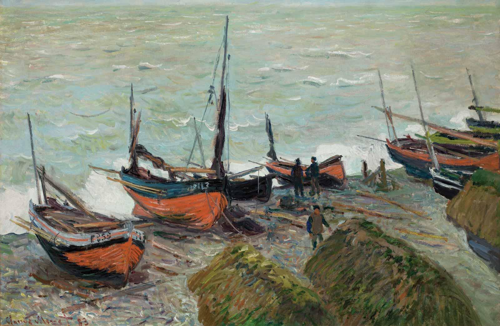 Claude Monet, Fishing Boats, 1883.