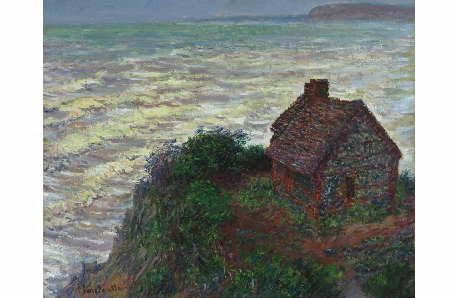 Claude Monet, House of the Customs Officer, Varengeville, 1882.