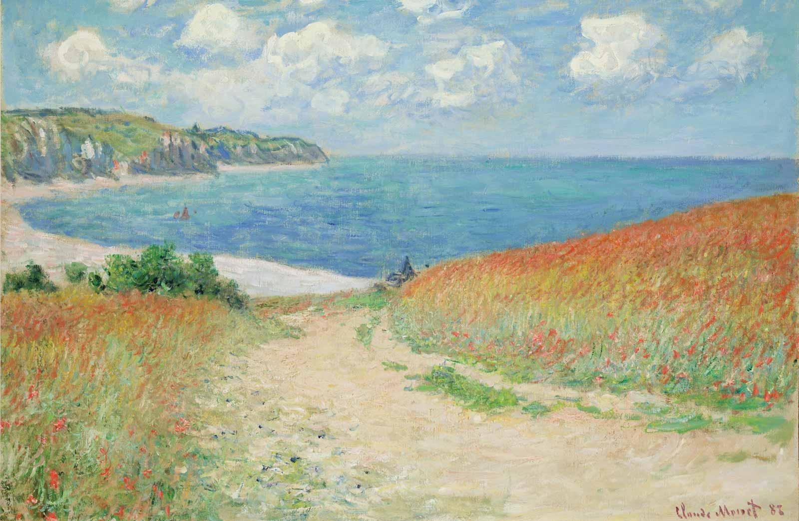 Claude Monet, Path in the Wheat Fields at Pourville, 1882.