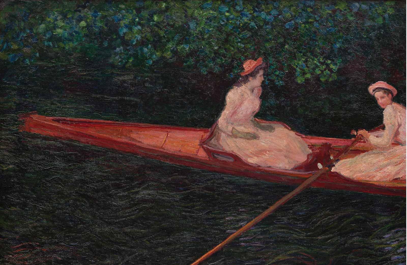 Claude Monet, The Canoe on the Epte, about 1890.
