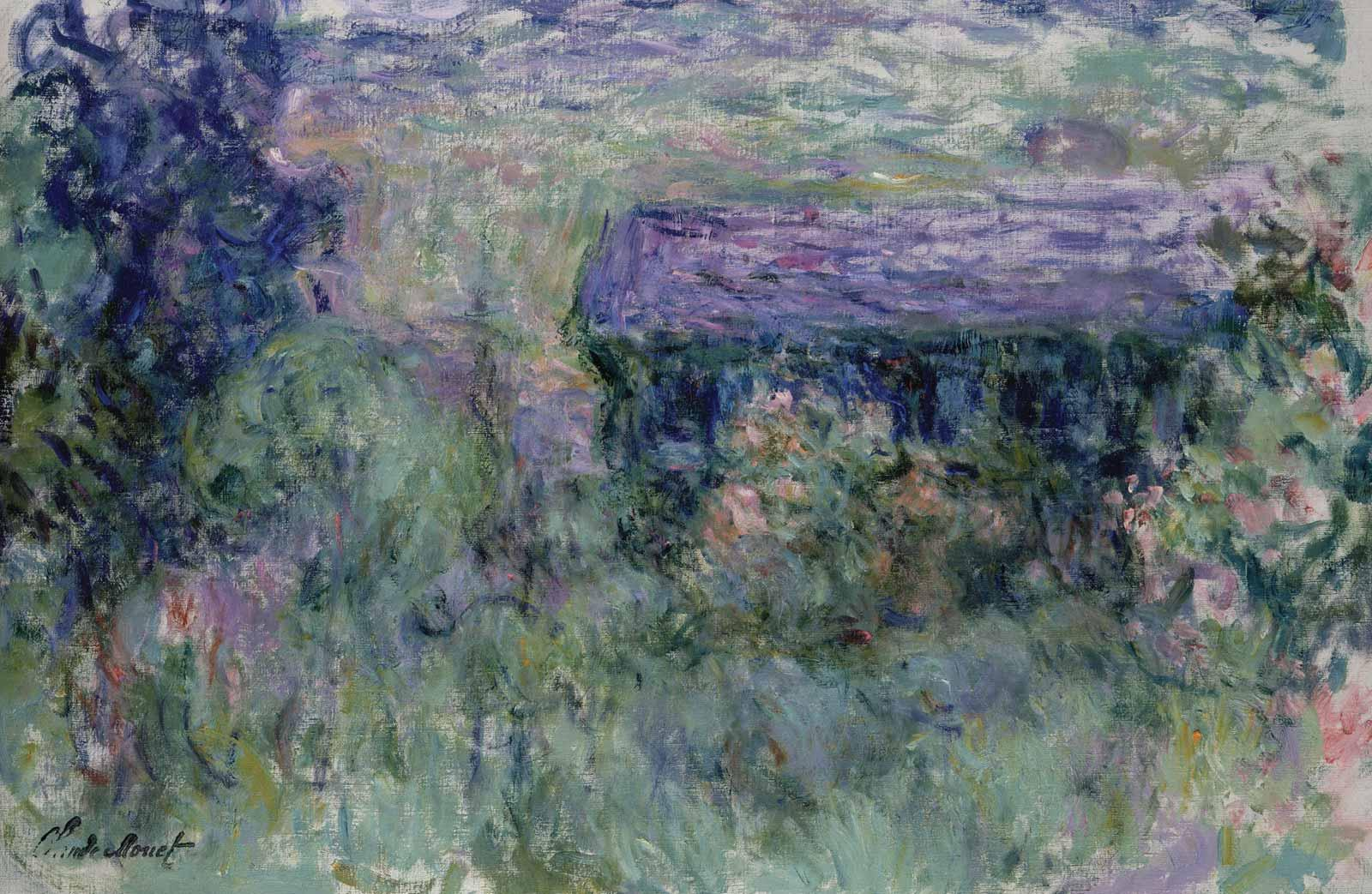 Claude Monet, The House Seen Through the Roses, 1925-26.