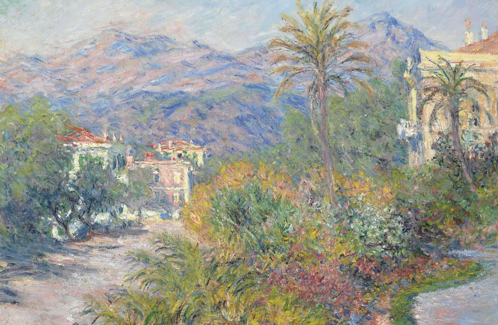 Claude Monet, The Strada Romana at Bordighera, 1884.
