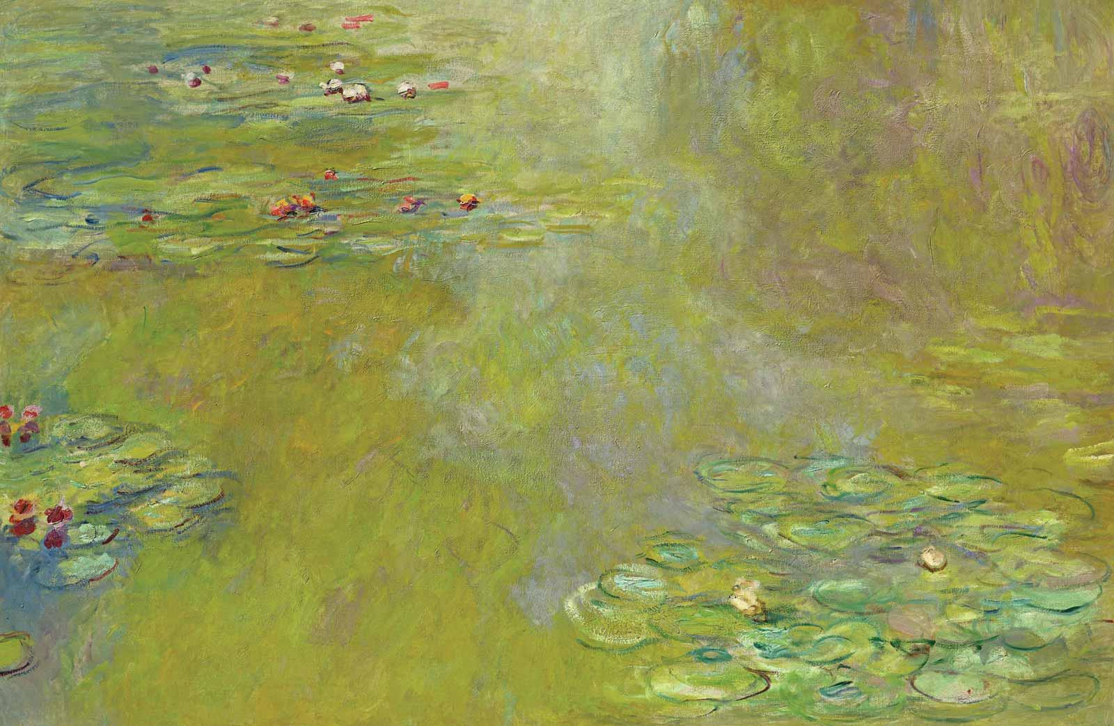 Claude Monet, The Water-Lily Pond, about 1918.