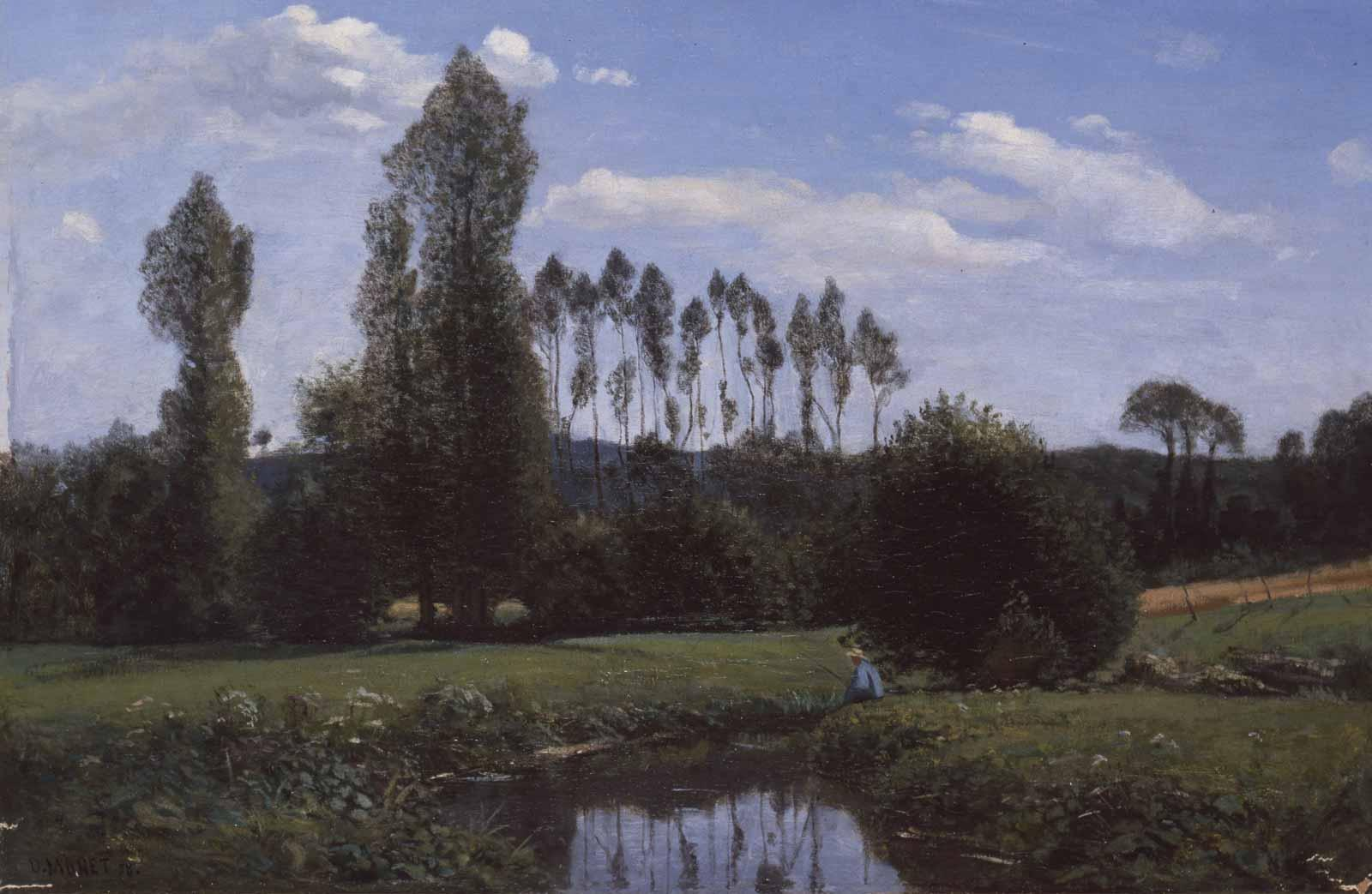 Claude Monet, View from Rouelles, 1858.