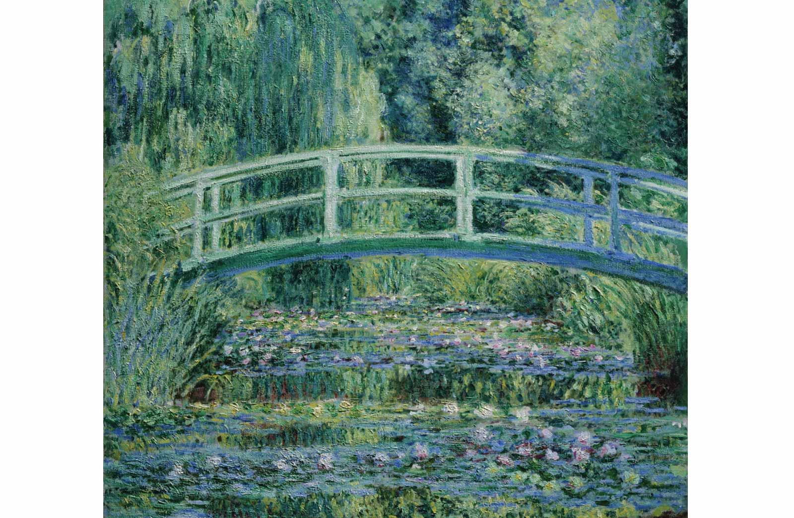 Claude Monet, Waterlilies and Japanese Bridge, 1899.
