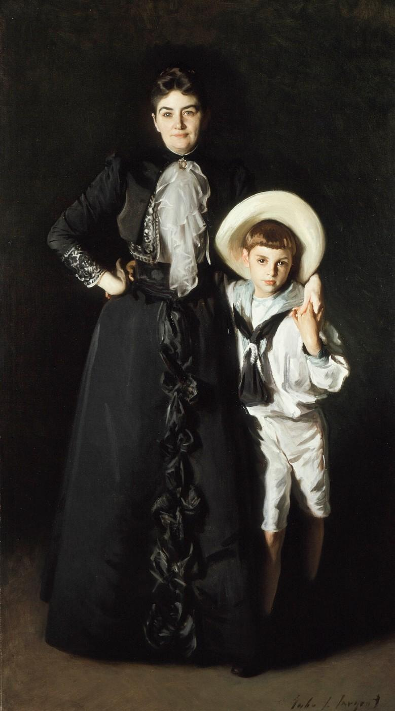 John Singer Sargent. Portrait of Mrs. Edward L. Davis and Her Son, Livingston Davis, 1890