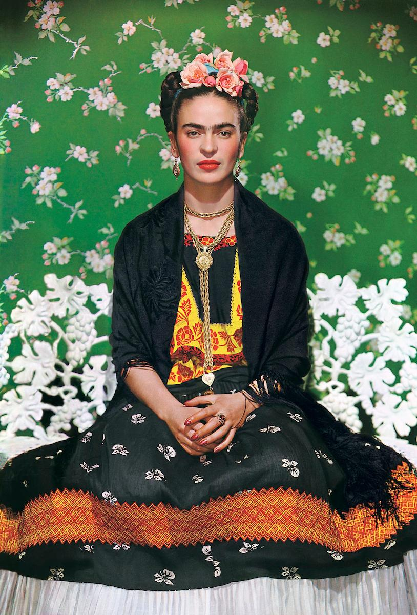 Nickolas Muray (American, born Hungary, 1892-1965), Frida on Bench, 1939.