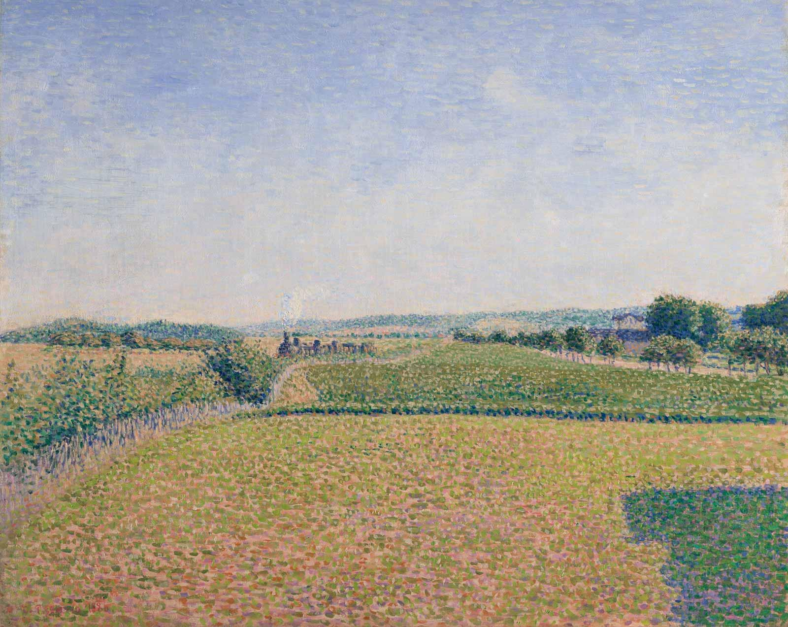 Railroad to Dieppe, 1886, by Camille Pissarro