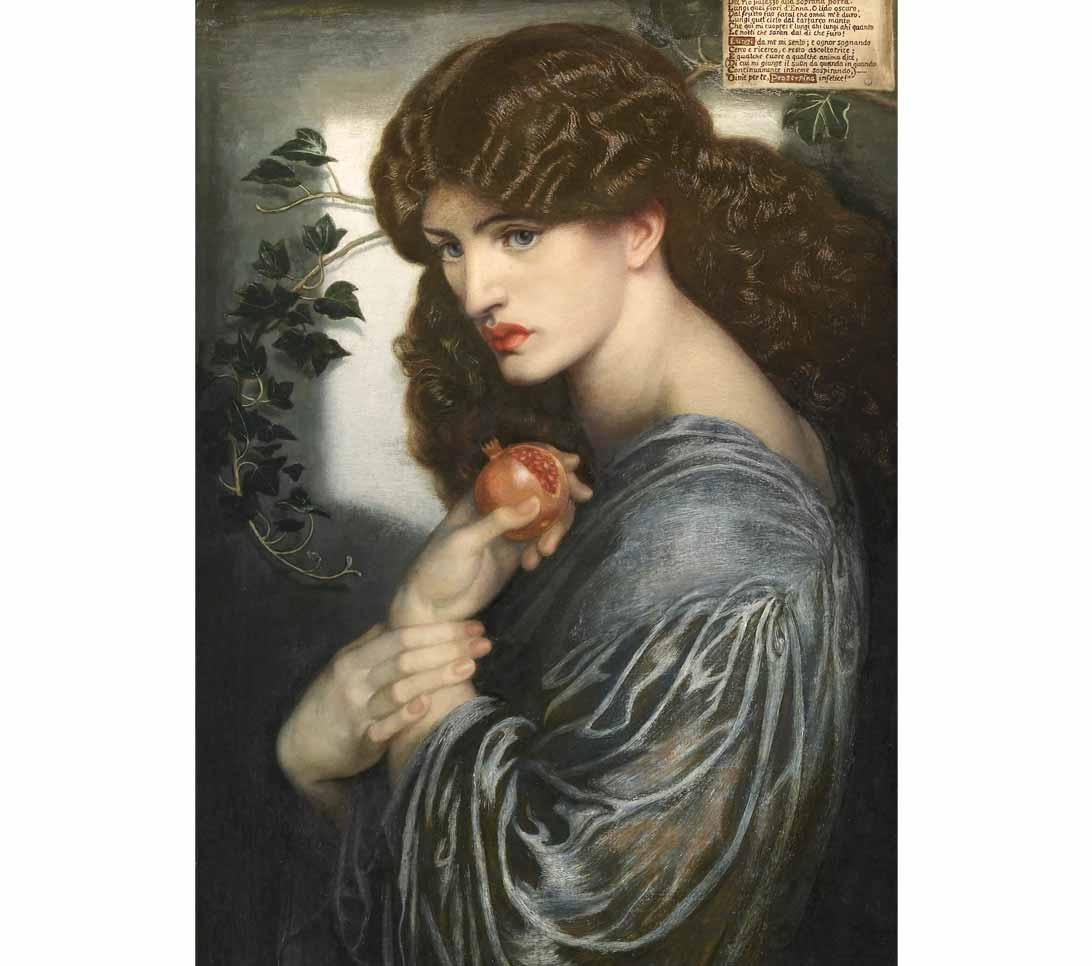 Jane Morris is the model for Proserpine by Dante Gabriel Rossetti, 1877.