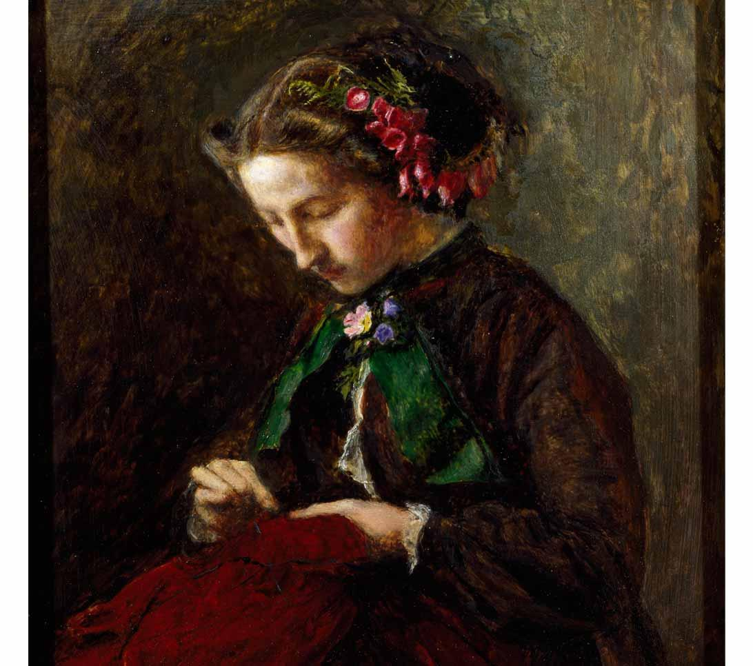 Effie with Foxgloves in her Hair (The Foxglove) by John Everett Millais, 1853.