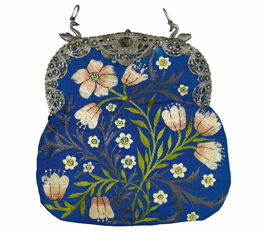Evening Bag Stitched by Jane Morris, c.1878.
