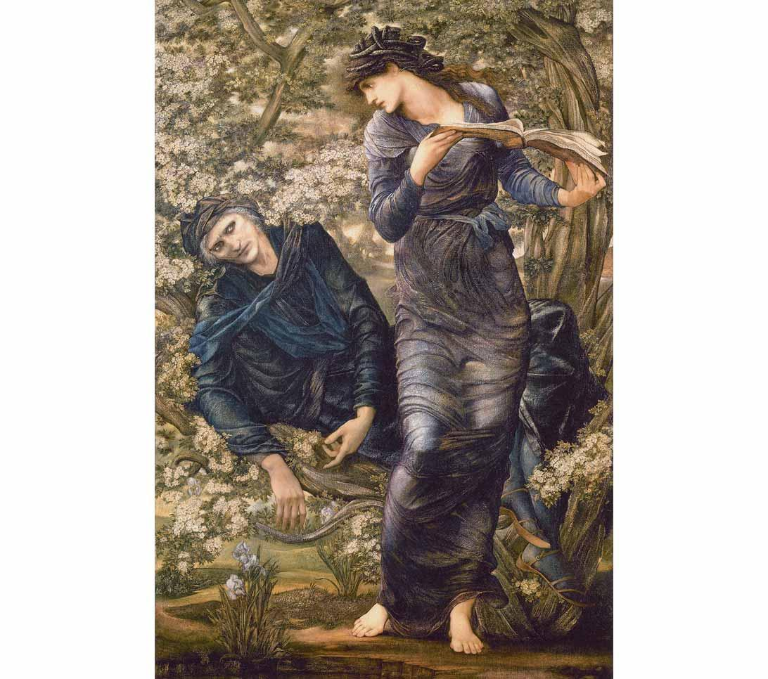 Marie Zambaco is the model in The Beguiling of Merlin by Edward by Burne-Jones, 1872-7.